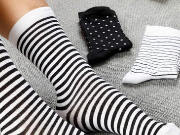 Colourful Чорапи Стандарт Черно-Бяло