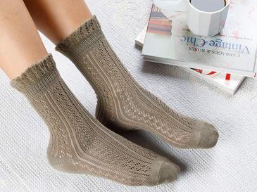 Fishnet Long Чорапи Стандарт Каки