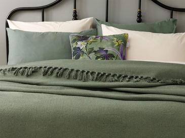 Crimped Покривка за Легло Единичен Размер 160x240 См Зелено