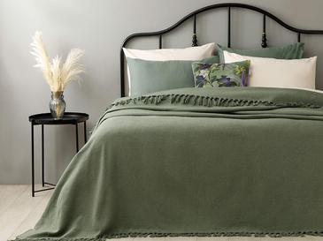 Crimped Покривка за Легло Двоен Размер 240x260 См Зелено