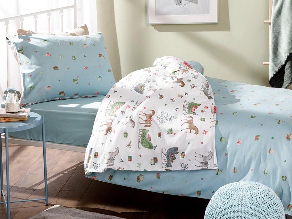 Lovely Horses Комплект Детско Спално Бельо 160x220 См Бяло