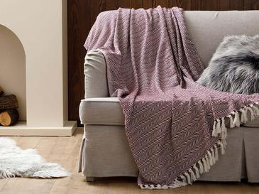 Herringbone Шал за Кресло 130x170 См Слива
