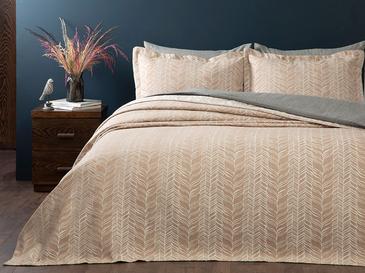 Knit Комплект Покривало за Легло Двоен Размер 240x250 См Бежово