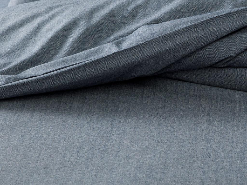 Sharp Twill Suit Комплект Спално Бельо Двоен Размер 200x220 См Тъмносиньо