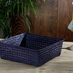 Charming Basket 27x27x10 Cm Blue