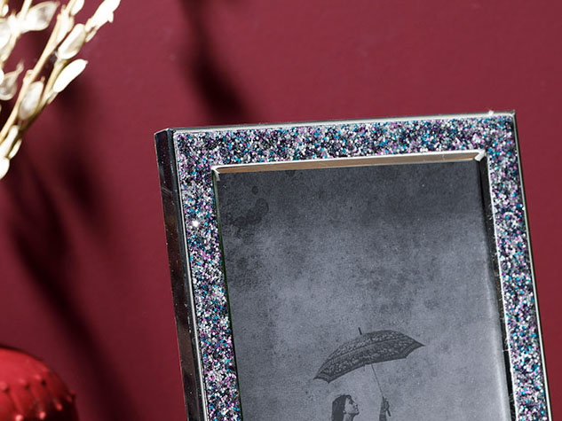 Glossy Metal Frame 15x20 Cm Gray