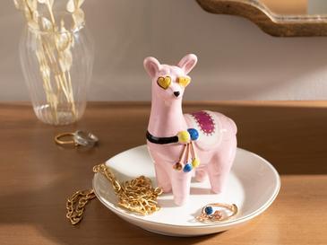 Lama Поставка за Бижута Керамика 13x13x11,5 См Розово