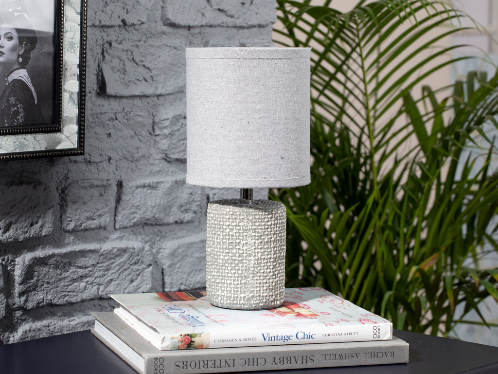 Gina Ceramic Lamp Shade 14x14x30 Cm Gray