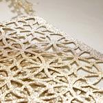 Shiny Puff Place Mat 2 Piece 45x30 Cm Gold