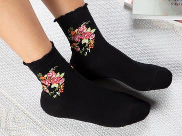 Flower Чорапи Стандарт Черно