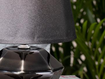 Verde Porcelain Table Lamp 14x14x14 Cm Stone Coal