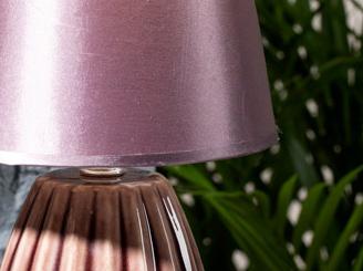 Nila Porcelain Table Lamp 10x10 Cm Purple