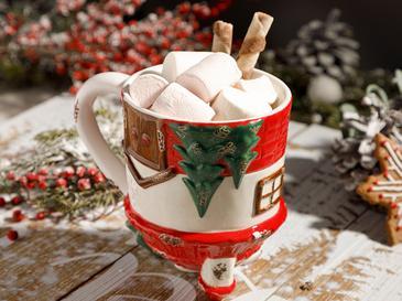 Sweet Home Доломит Чаша 325 Мл Червено-Бяло