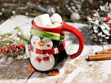 Snowman Доломит Чаша 13x9x11 См Черно-Бяло