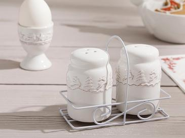 Karmen White Солница-Пиперница 5x5 См Бяло