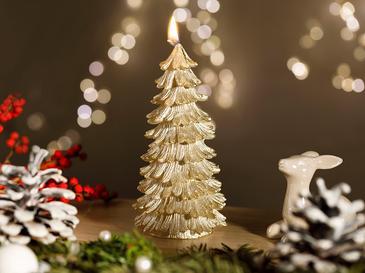 Christmas Season Свещ 7x14 См Златисто