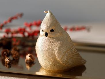 Bird Tweet Свещ 10x8x10 См Златисто