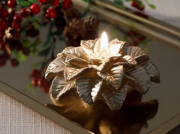 Magnolia Свещ 11,5x11,5x5,0 См Златисто