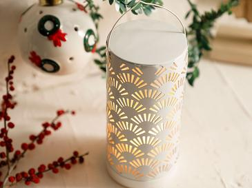 Shine Фенер 8x8x17 См Бяло
