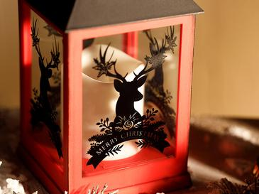 Rosy Deers Фенер 10,5x10,5x24 См Червено
