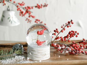 Snow Bird Преспапие 6,5x6,5x8,5 См Кремаво