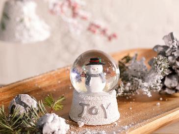 Funny Snowman Преспапие 4,5x4,5x6,0 См Бяло