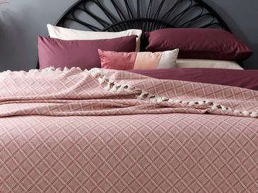 Diamond Покривка за Легло Единичен Размер 160x240 См Пепел от Рози