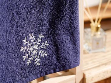 Snow Flake Подаръчна Хавлия Пакетирано Бродирани 40x60 Lacivert