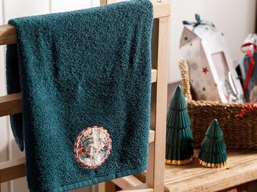Winter Time Подаръчна Хавлия Пакетирано Бродирани 40x60 Зелено