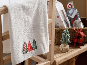 Christmas Tree Хавлия за Подарък 40x60 См Екрю
