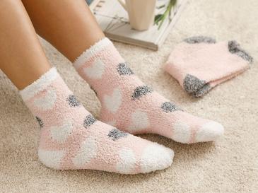 Heart Soft Дамски Чорапи Розово-Бяло