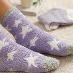 Snowstar Plush Socks Mix Lilac