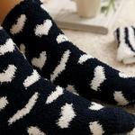 Warm Hearts Plush Socks Mix Navy Blue