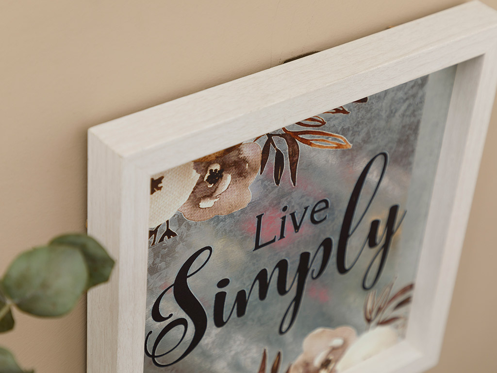 Simple Life Mdf Picture Frame 24x24 Cm Gray