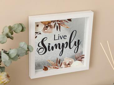 Simple Life Декоративно Табло 24x24 См Сиво