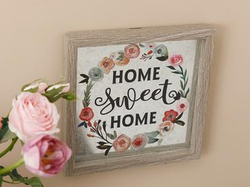 Lovely Home Декоративно Табло Мдф 24x24 См Сиво