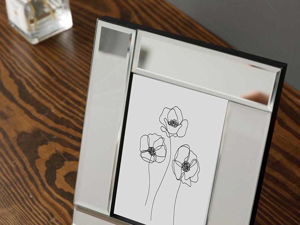 Mirror Stage Glass With Mirror Frame 38,0x54,5x95,0 Cm Gümüş