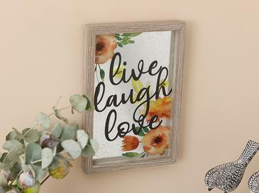 Live Laugh Love Декоративно Табло Мдф 20x30 См Сиво