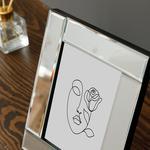 Mirror Stage Glass With Mirror Frame 20x25 Cm. Gümüş