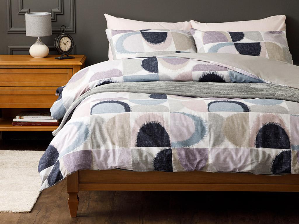 Abstract Комплект Спално Бельо Единичен Размер 160x220 См Синьо-Лилаво