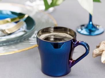 Jade Купа Стъкло 20,5x8,5x3,0 Cm Синьо - Тъмно Синьо