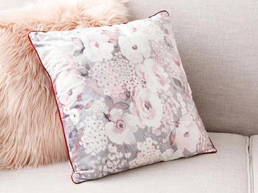 Romantic Floral Декоративна Калъфка за Възглавница 45x45 См Сиво