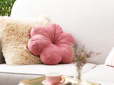 Bloom Кадифена Декоративна Възглавница с Пълнеж 40x40 См Пепел от Рози
