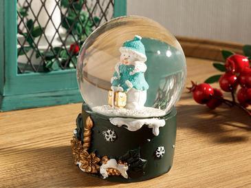 Snowman Снежно Кълбо Polyresin Зелено