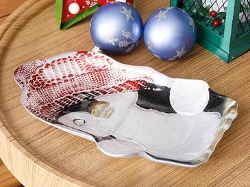 Snowman Купа за Ядки 22 См Червено-Бяло