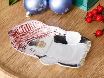 Penguin Купа за Ядки 17 См Червено-Бяло