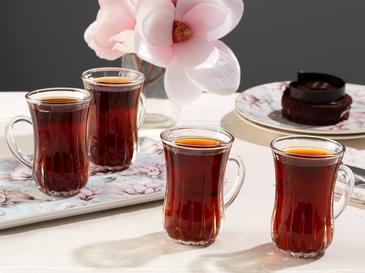 Aroya Чаша за Чай 4 Бр. 140 Мл Прозрачно