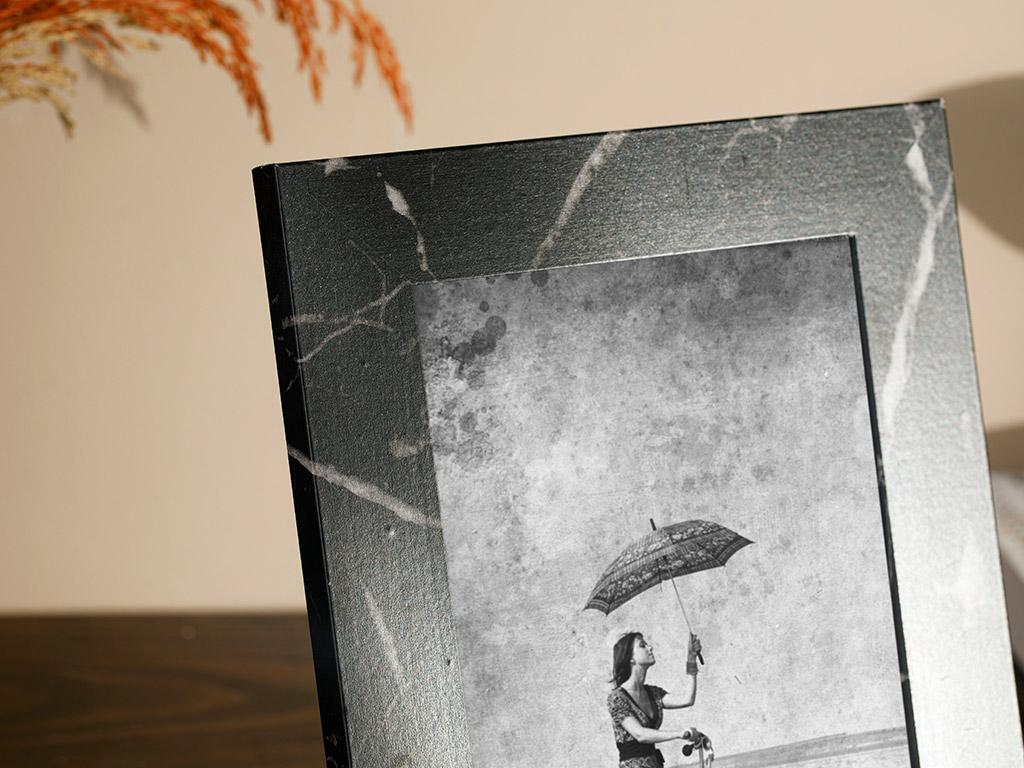 Marble Mdf Frame 28,0x13,0x2,5 Cm Black