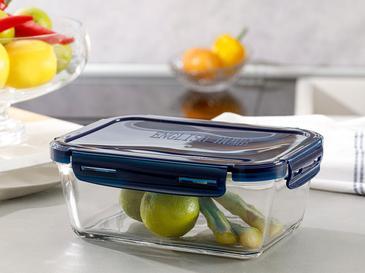 Pureness Кутия За Съхранение Правоъгълно Стъкло 7,5x7,5x14,8 Cm Lacivert