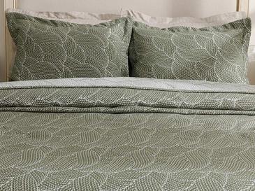 Wavy Bunch Комплект Покривало за Легло Двоен Размер 240x250 См Зелено